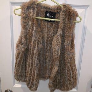 Fur Vest Size Small